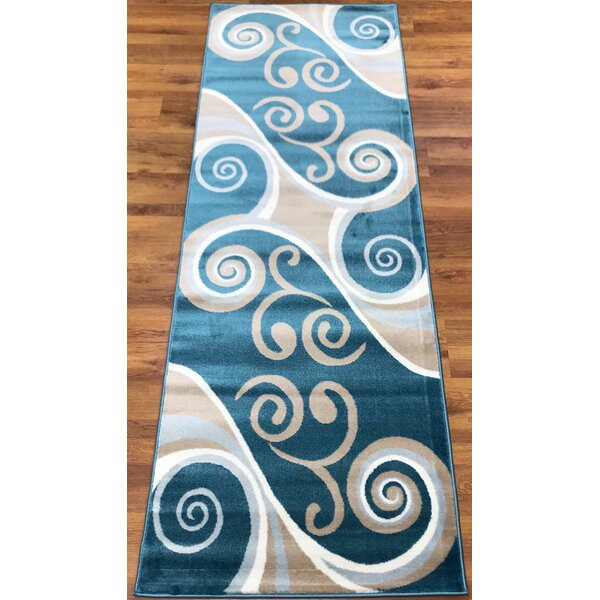 Selimi Blue/Beige Area Rug Runner by Bloomsbury Market