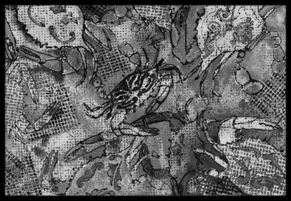 Canvas Abstract Crabs Non-Slip Outdoor Door Mat