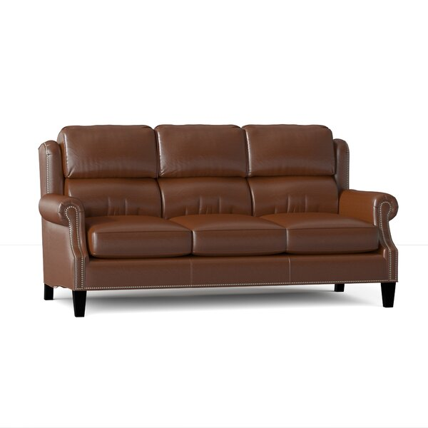 Taylor Genuine Leather 80.5 Rolled Arm Sofa