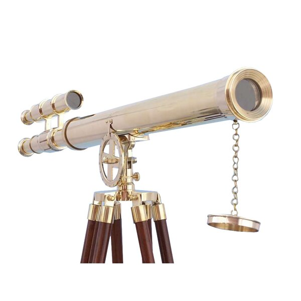Floor Standing Griffith Astro Decorative Telescope by Handcrafted Nautical Decor