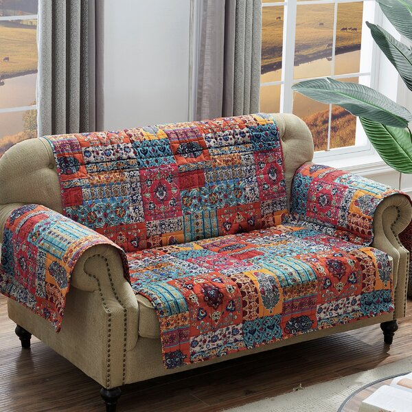 Paisley Loveseat Slipcover by World Menagerie