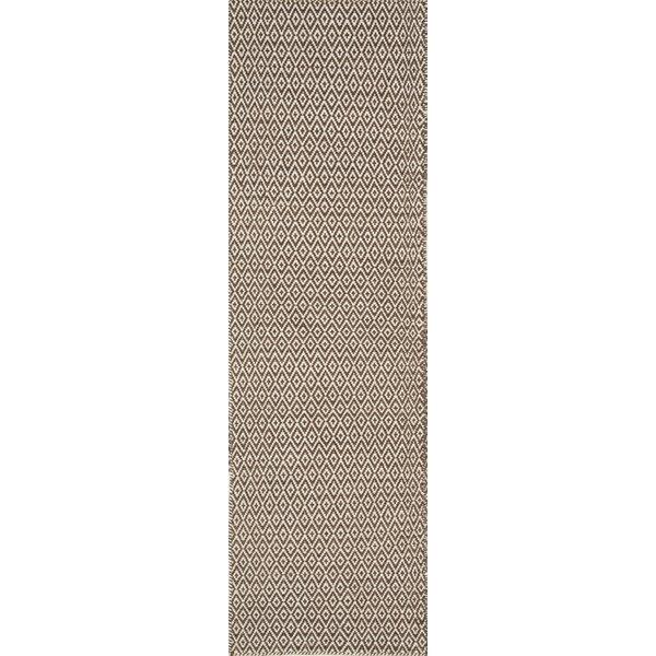 Brooklington Handwoven Flatweave Wool Brown Area Rug by Bungalow Rose