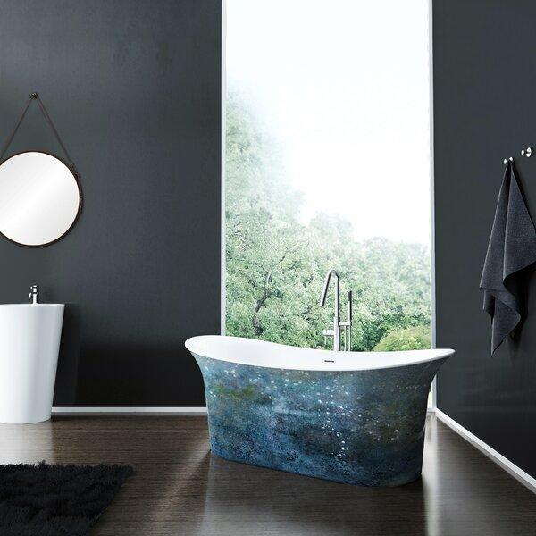 Cyclone 67 x 27 Freestanding Soaking Bathtub by A&E Bath and Shower