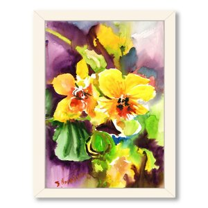 Orchids Framed Painting Print by Alcott Hill