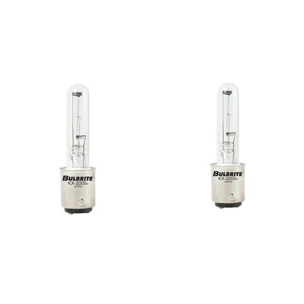 60W BA15d Dimmable Xenon/Krypton Stick Light Bulb (Set of 2) by Bulbrite Industries