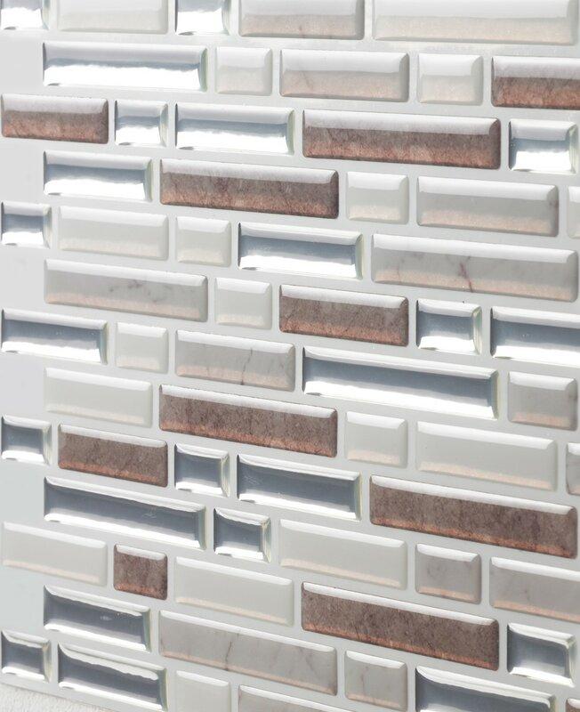 Tictactiles 10 Quot X 10 Quot Peel Amp Stick Mosaic Tile In Como