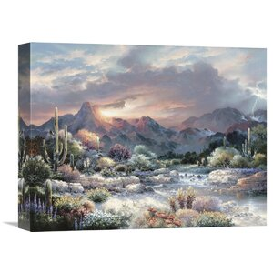 'Sonoran Sunrise' by James Lee Painting Print on Wrapped Canvas by Global Gallery