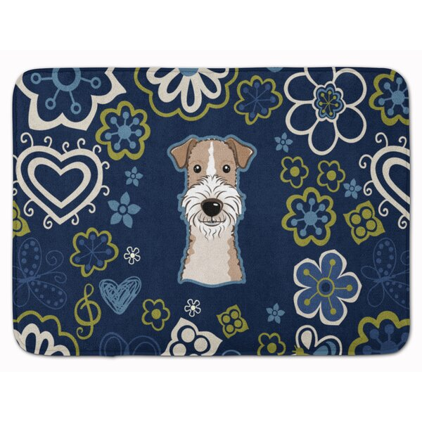 Wire Haired Fox Terrier Memory Foam Bath Rug by East Urban Home