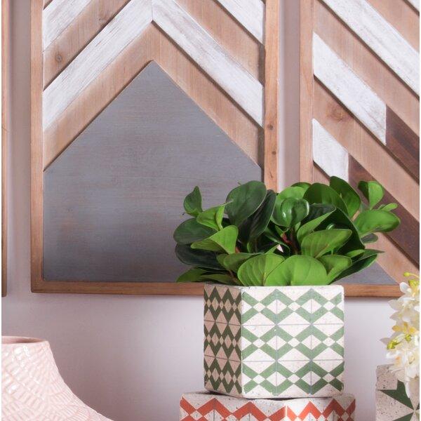 Ruiz Triangles Ceramic Pot Planter by Wrought Studio