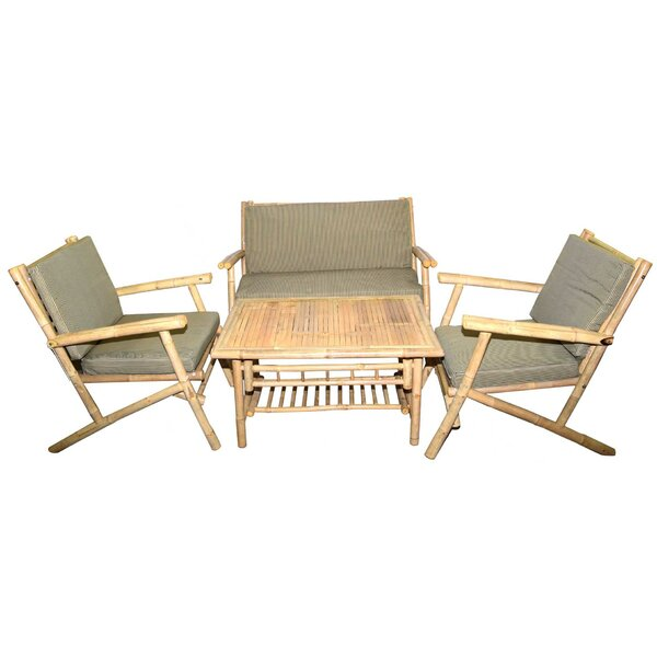 4 Piece Sofa Set with Cushions by Bamboo54