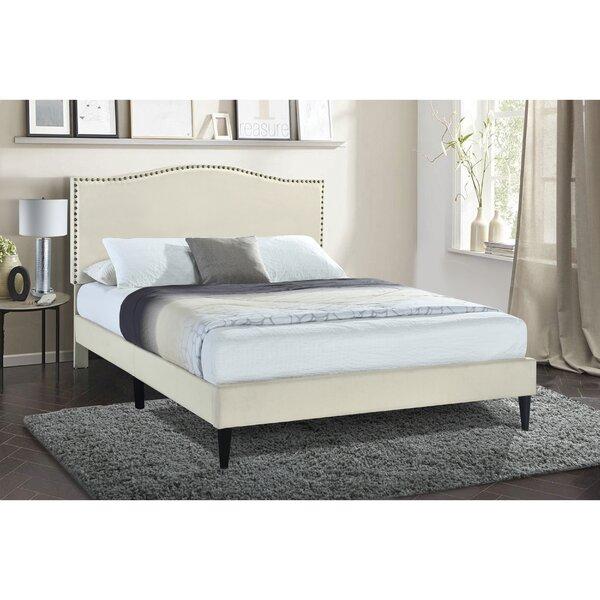 Dule Arched Back Upholstered Platform Bed Charlton Home W002018374