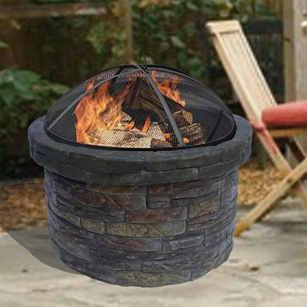 Stone Charcoal Fire Pit by Peaktop