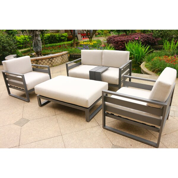 Hearne 5 Piece  Sofa Seating Group with Cushions by Orren Ellis