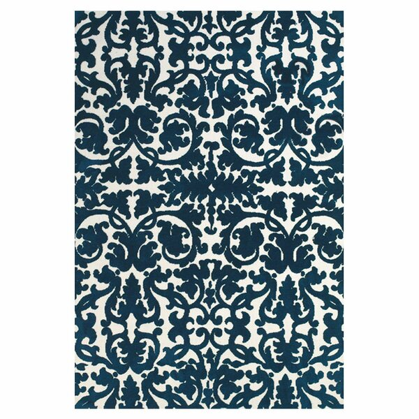 Clouser Blue/Ivory Area Rug by Charlton Home