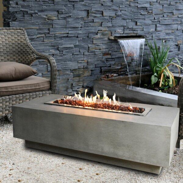 Granville Concrete Gas Fire Pit Table by Elementi