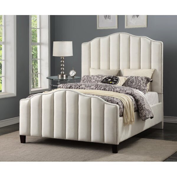 Livilla Channeled Upholstered Standard Bed by Everly Quinn