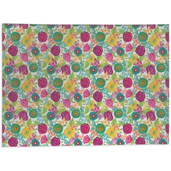 Butterfly Garden Kitchen Mat