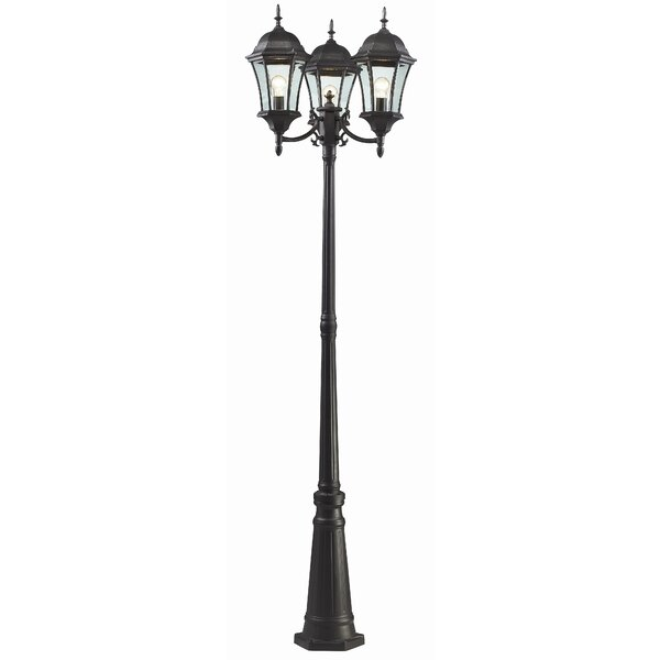 Lyles Outdoor 3-Light 90 Post Light by Astoria Grand