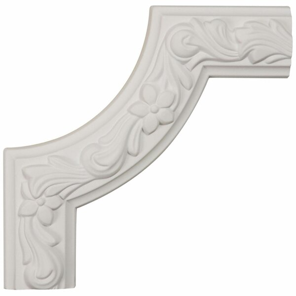 Sussex 8H x 8W x 1 7/8D Floral Panel Moulding Corner by Ekena Millwork
