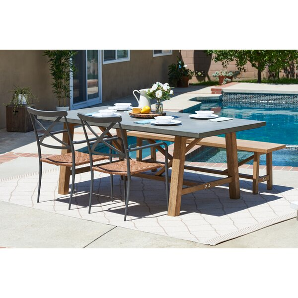 Desborough Outdoor 4 Piece Dining Set by Three Posts