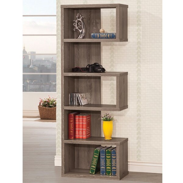 Dabrowski Sturdy Semi Backless Wooden Corner Unit Bookcase by Wrought Studio