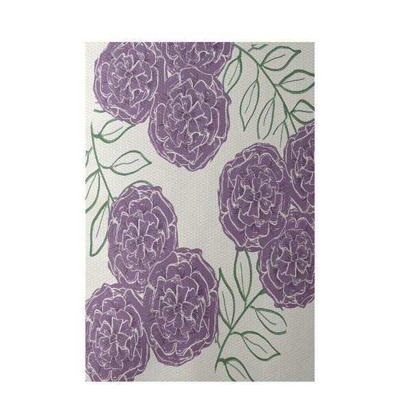 Floral Off White Indoor/Outdoor Area Rug by e by design