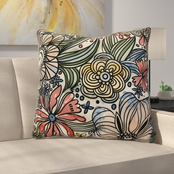 Natahsa Zentangle Floral Euro Pillow by Latitude Run