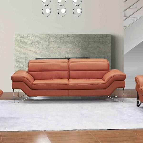 Cheapest Price For Braylen Leather Sofa by Brayden Studio by Brayden Studio