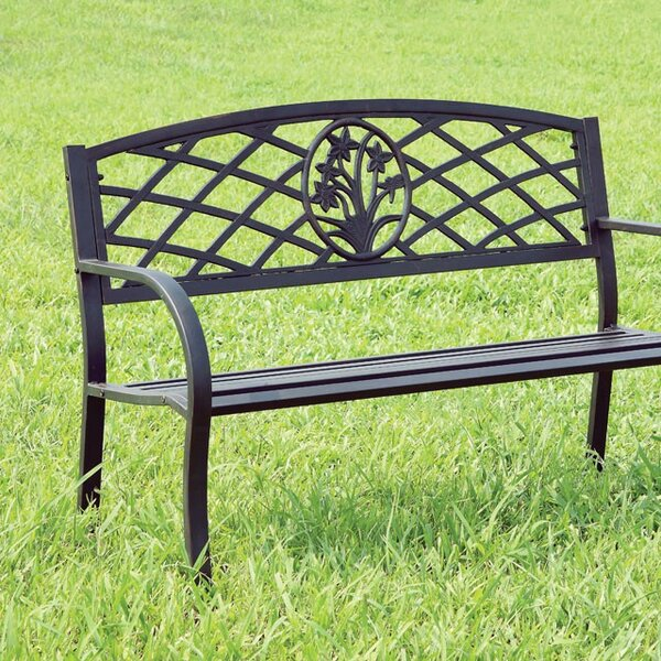 Neela Steel Garden Bench by August Grove