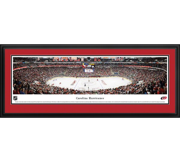 NHL Carolina Hurricanes by James Simmons Framed Photographic Print by Blakeway Worldwide Panoramas, Inc