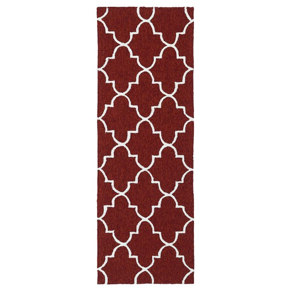 Cowan Hand-Tufted Red Indoor/Outdoor Area Rug by Charlton Home