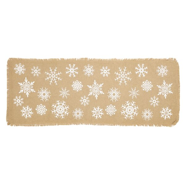 Snowflake Burlap Table Runner by The Holiday Aisle