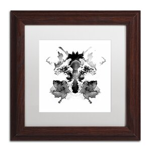 Rorschach by Robert Farkas Framed Graphic Art by Trademark Fine Art