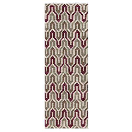 Fallon Hand-Woven Gray/Maroon Area Rug by Jill Rosenwald Home