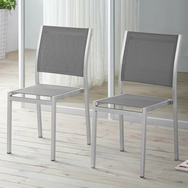 Coline Stacking Patio Dining Chair (Set of 2) by Orren Ellis Orren Ellis