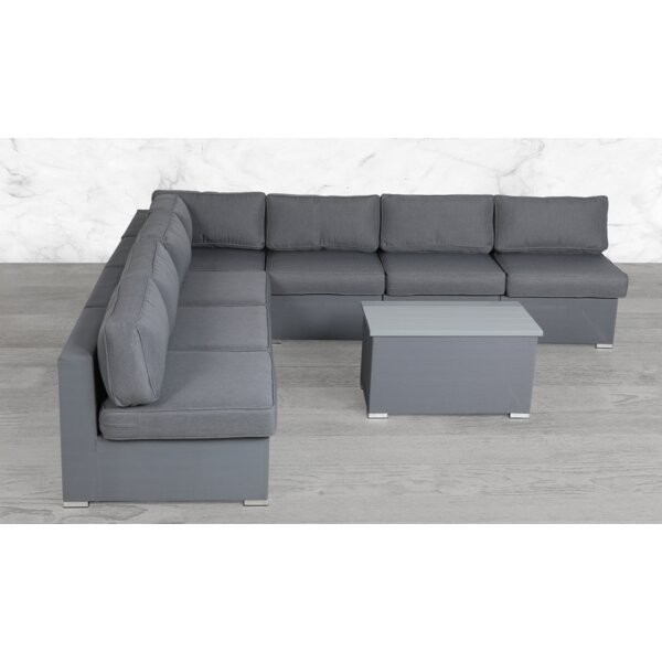 Frizzell Modular 7 Piece Sectional Seating Group with Cushions by Orren Ellis
