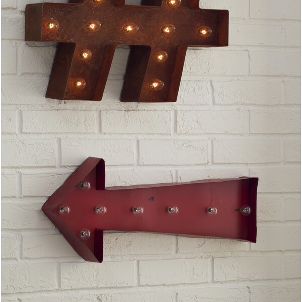 Arrow Marquee Wall Décor by Birch Lane™