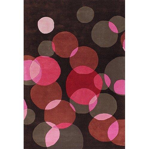 Osteen Black/Pink Area Rug by Brayden Studio