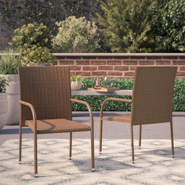 Lisette Patio Dining Chair (Set of 2) by Wade Logan Wade Logan