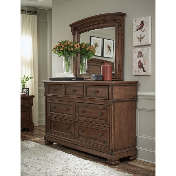 Urbanek 7 Drawer Dresser with Mirror by Canora Grey