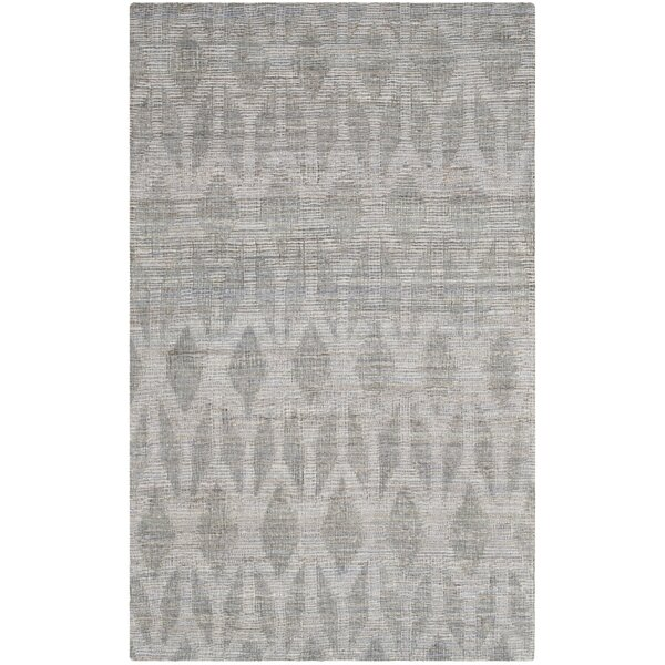 Gilchrist Hand-Woven Grey/Gold Area Rug by Beachcrest Home