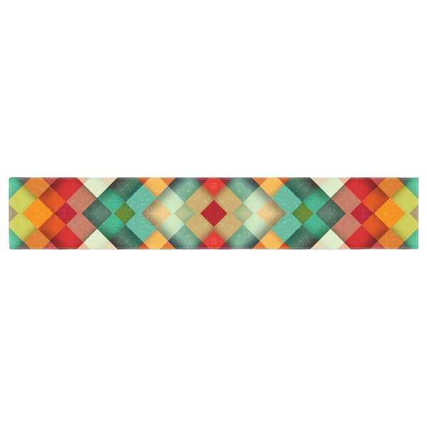 Danny Ivan Time Between Geometric Abstract Table Runner by East Urban Home