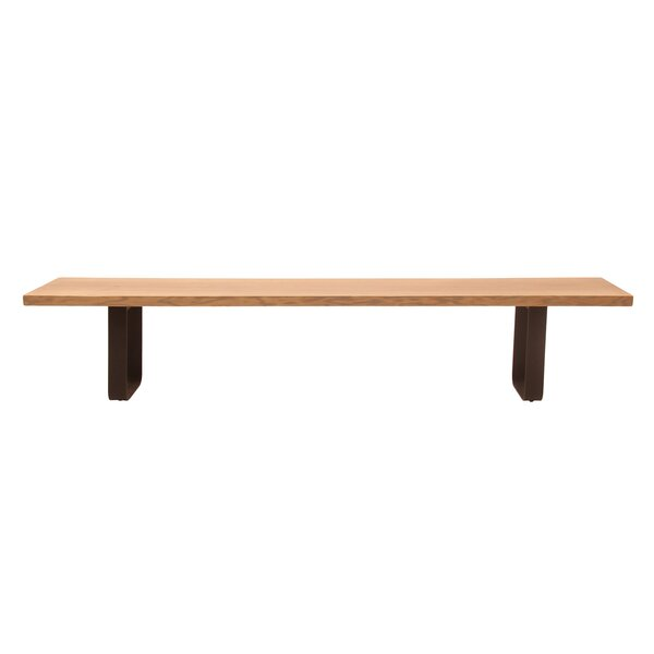Lafrance Live Edge Wood Bench by Union Rustic