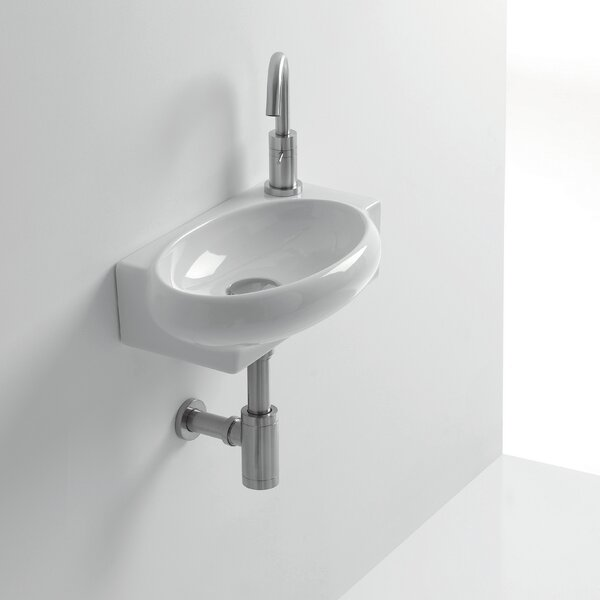 Whitestone Zetta Ceramic 17 Wall Mount Bathroom Sink with Overflow by WS Bath Collections
