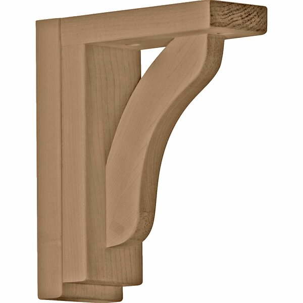 Reece 7 1/2H x 2 1/2W x 6 1/4D Shelf Bracket in Cherry by Ekena Millwork