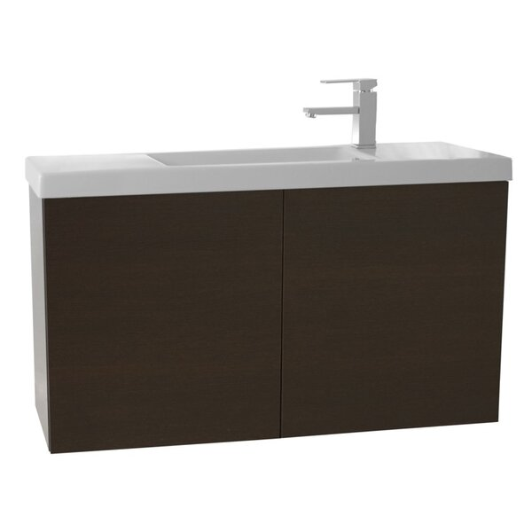 Happy Day 25 Wall-Mounted Single Bathroom Vanity Set by Nameeks Vanities