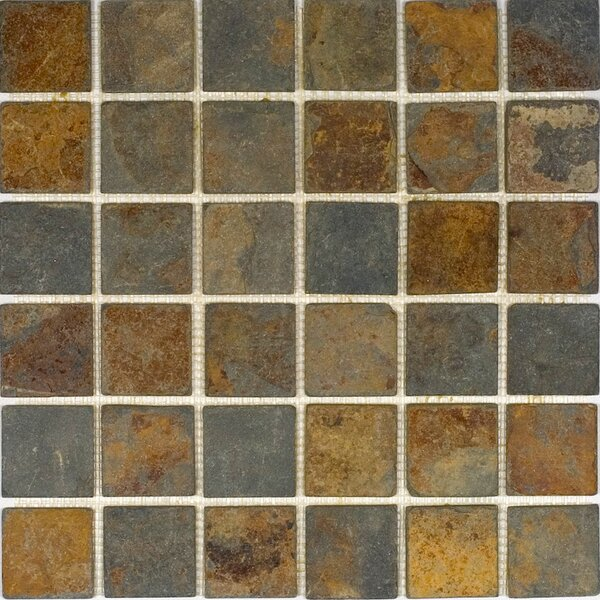 2 x 2 Slate Mosaic Tile in Sunsets by Epoch Architectural Surfaces