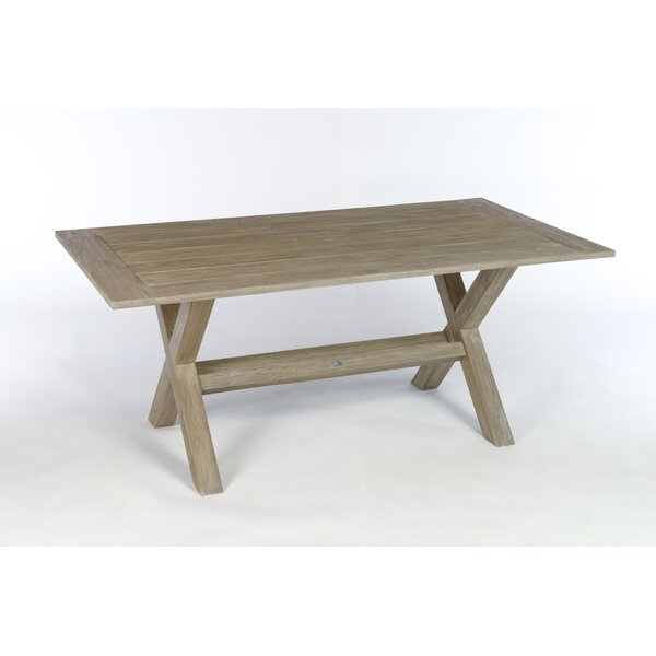 Earnest Teak Dining Table By Rosecliff Heights