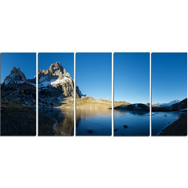 Payrenees Mountains Landscape 5 Piece Photographic Print on Wrapped Canvas Set by Design Art