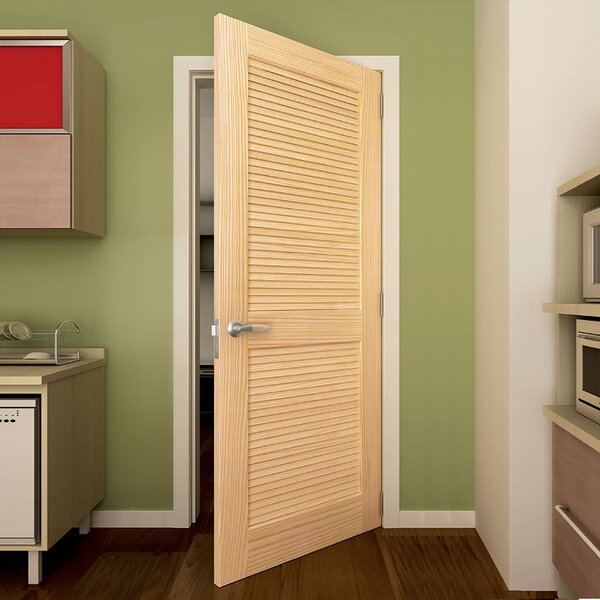 & KIBY Solid Wood Louvered Slab Interior Door \u0026 Reviews | Wayfair